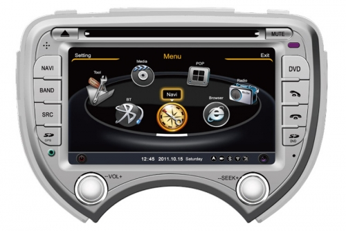 Nissan Micra March Verita Aftermarket Navigation With DVD Player