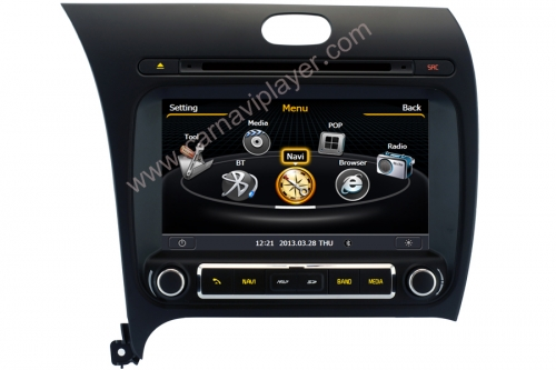 Kia Cerato Forte K3 2013 Aftermarket Navigation DVD Player
