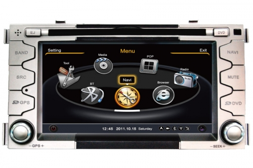 Kia Soul 2008-2012 Aftermarket Navigation DVD Player