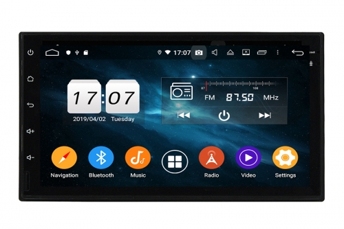 Universal Double Din Android 9 OS Navigation Radio Player