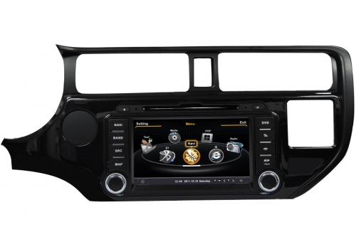 Kia K3 Rio Pride Aftermarket Navigation DVD Player