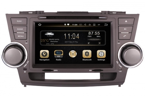 Android Navigation Radio Player For Toyota Highlander 2008-2013