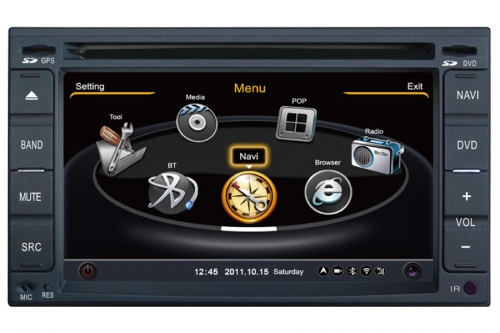 Nissan Universal Double Din Aftermarket Navigation DVD Player